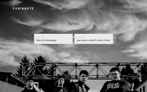 Screenshot of Press Page farinhate.com - News – FARINHATE - captured May 24, 2016