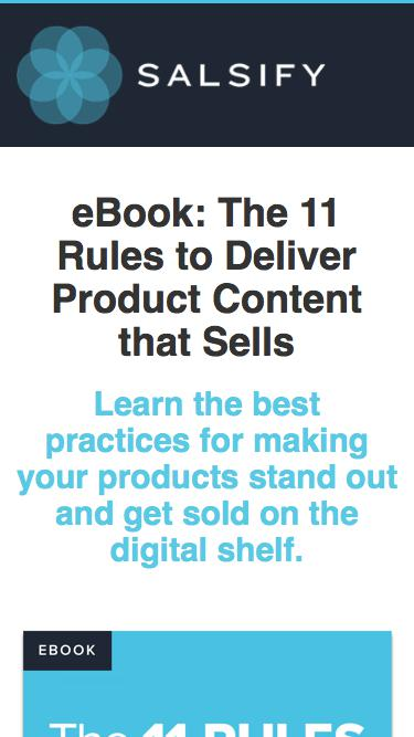 eBook - The 11 Rules to Deliver Product Content that Sells