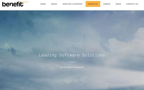 Screenshot of Products Page benefit.gr - Products - Benefit Software - captured Nov. 13, 2018