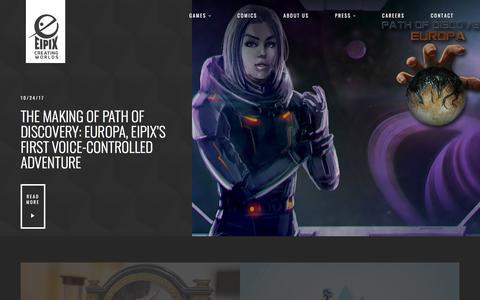 Screenshot of Blog eipix.com - Blog   Eipix Entertainment - captured Sept. 21, 2018
