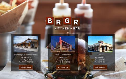 Screenshot of Home Page brgrkitchen.com - BRGR Kitchen + Bar - captured March 17, 2018