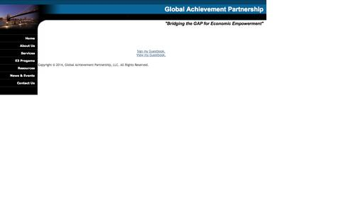 Screenshot of Testimonials Page gapartnership.com - Global Achievement Partnership - captured Oct. 2, 2014