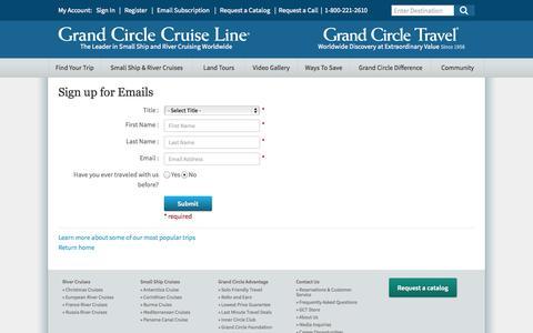 Screenshot of Signup Page gct.com captured Sept. 25, 2014