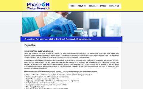 Screenshot of About Page phaseon-clinical.com - PhaseON Clinical Research - captured Oct. 2, 2014