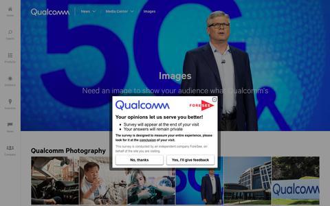 Screenshot of Press Page qualcomm.com - Images of Qualcomm   Qualcomm - captured Aug. 7, 2018