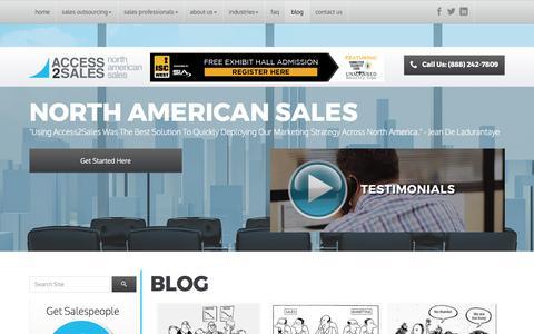 Screenshot of Blog access2sales.com - Blog | Access2Sales - captured May 29, 2017