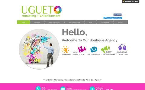 Screenshot of wix.com - Ugueto Marketing + Entertainment - captured Aug. 15, 2016