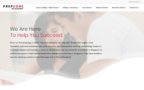 Screenshot of Home Page prep-zone.sg - Prep Zone Academy™ - Singapore's Top Test Prep & Admissions Centre - captured July 21, 2018
