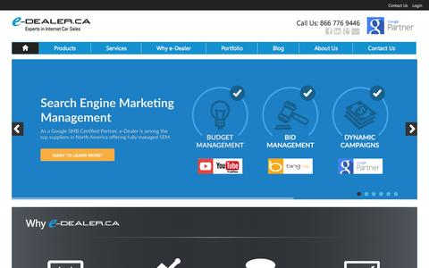 Car Dealer Websites, SEO SEM PPC Internet Marketing for Auto Dealers, e-Dealer.ca