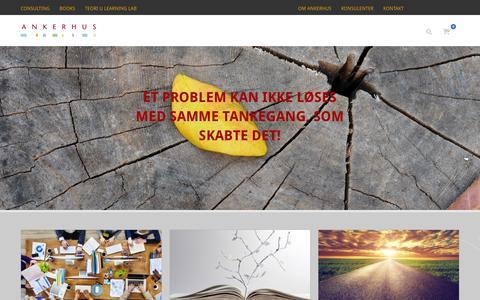 Screenshot of Home Page ankerhus.dk - HjemAnkerhus | Udviklingskonsulenter i ledelse - captured Feb. 6, 2016