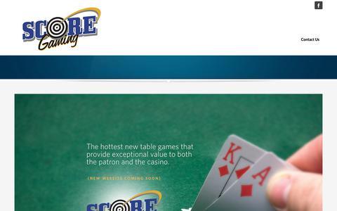 Screenshot of Home Page scoregamingnv.com captured March 18, 2019
