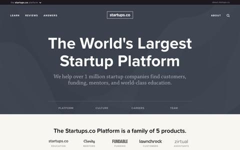 About | Startups.co