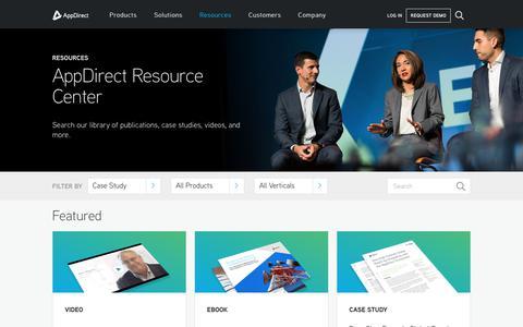 Screenshot of Case Studies Page appdirect.com - Resources - AppDirect - captured June 26, 2018