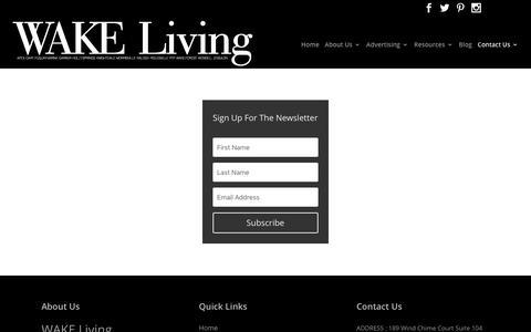 Screenshot of Signup Page wakeliving.com - Sign Up - wakeliving - captured Jan. 25, 2018