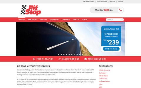 Screenshot of Services Page pitstop.co.nz - See our List of Vehicle Services   Pit Stop - captured Nov. 18, 2016