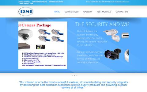 Screenshot of Home Page delmisolutions.com - Delmi Solutions Inc. - captured Oct. 5, 2014