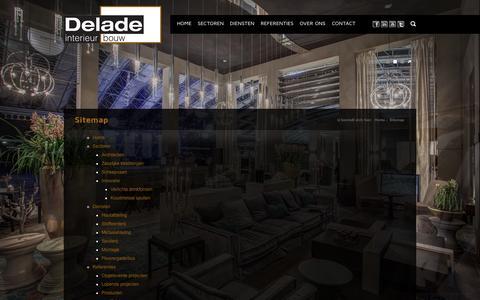 Screenshot of Site Map Page delade.nl - Sitemap - Delade Interieur Bouw - captured Oct. 5, 2014