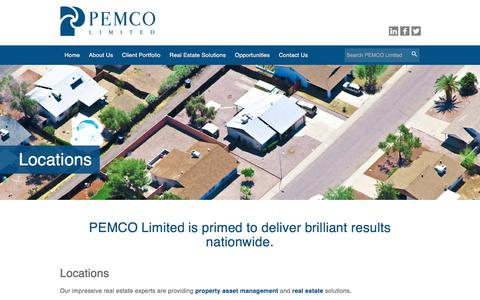 Screenshot of Locations Page pemco-limited.com - Asset Management - PEMCO Limited Company Location - captured July 14, 2018