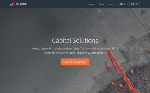 Capital Solutions | Fundrise