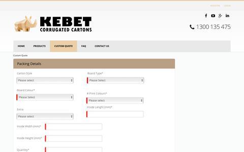 Kebet > Custom Quote