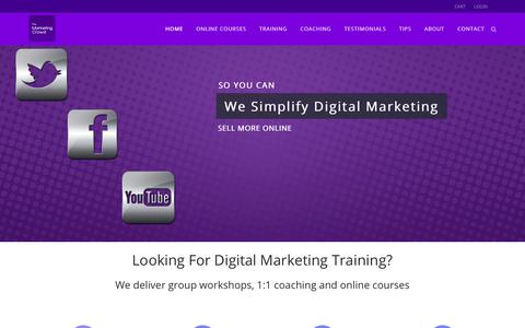 Screenshot of Home Page themarketingcrowd.ie - Digital Marketing training – Online marketing training - The Marketing Crowd - captured June 15, 2017