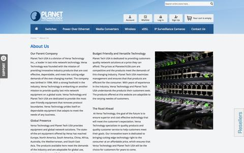 Screenshot of About Page planetechusa.com - About Us - captured Oct. 3, 2014