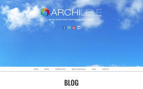 Screenshot of Blog archilele.com - blog - captured Sept. 30, 2014