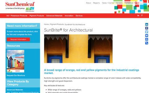 SunBrite® for Architectural | Sun Chemical