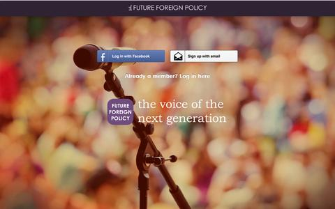 Screenshot of Signup Page futureforeignpolicy.com - Join | Future Foreign Policy - captured Sept. 30, 2014