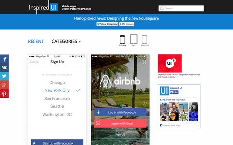 Screenshot of Signup Page inspired-ui.com - Inspired UI - Mobile Apps Design Patterns [iPhone] - captured Oct. 31, 2014
