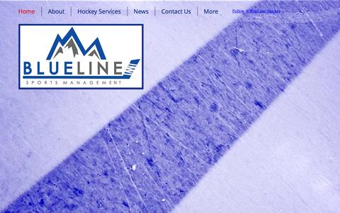 Screenshot of Home Page blueline-sports.com - Blue Line Sports Management, LLC - Hockey Agency & Family Advisors - captured Feb. 7, 2016