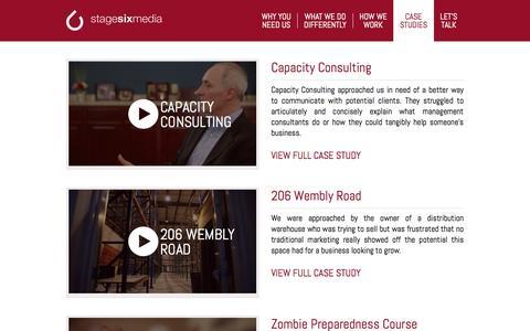 Screenshot of Case Studies Page thejenco.com.au - Case Studies - captured Sept. 30, 2014