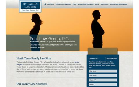 Screenshot of Home Page myfamilylawyer.net - Texas Family Law Firm | Dallas, Denton, and Collin Counties - captured Nov. 14, 2016