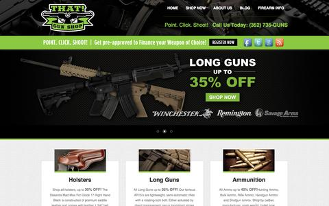 Screenshot of Home Page thatgunshop.net - Buy Guns For Sale | Discount Firearms | That Gun Shop - captured June 18, 2015