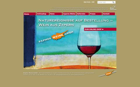 Screenshot of Press Page paphosweine.ch - Paphos-Weine - Weinspezialitäten aus Zypern - captured Oct. 1, 2014