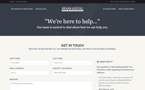 Screenshot of Contact Page rehabdigital.com - Contact Us | REHAB DIGITAL - captured Oct. 29, 2018