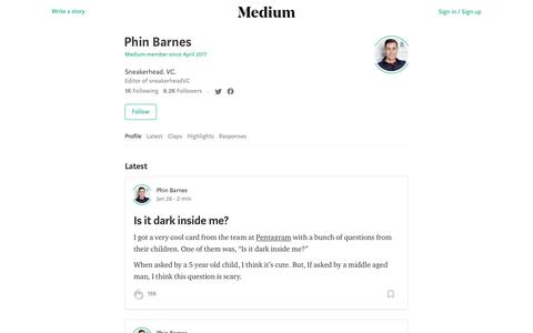 Phin Barnes – Medium