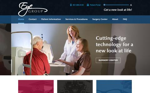 Screenshot of Home Page eyegroupms.com - Eye Group of Mississippi | Eye Doctors In Madison MS - captured Oct. 6, 2014