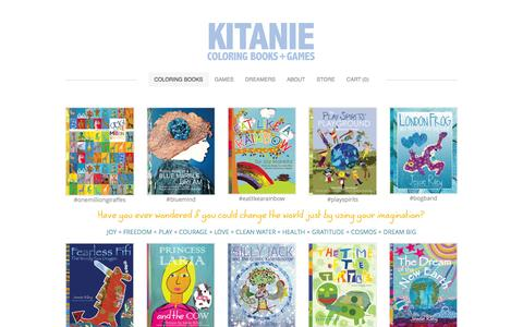 Screenshot of Home Page kitanie.com - Kitanie Coloring Books - Coloring Books - captured Oct. 6, 2014
