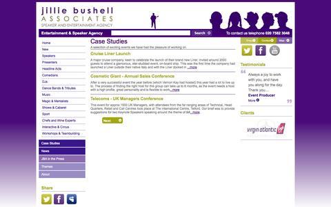 Screenshot of Case Studies Page jilliebushell.com captured Oct. 6, 2014
