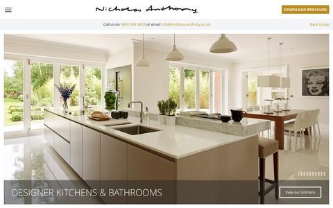Screenshot of Home Page nicholas-anthony.co.uk - Luxury Designer Kitchens & Bathrooms | Nicholas Anthony - captured Aug. 13, 2016