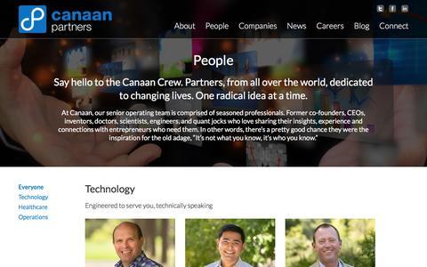 Screenshot of Team Page canaan.com - People  | Canaan - captured Nov. 19, 2016