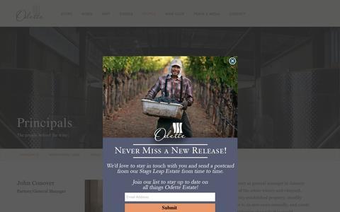 Screenshot of Team Page odetteestate.com - Principals | Odette Estate - captured Nov. 18, 2018