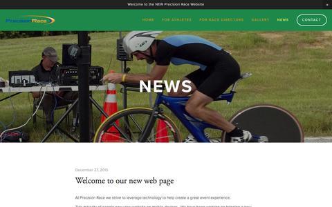 Screenshot of Press Page precisionrace.com - News — Precision Race - captured Jan. 30, 2016