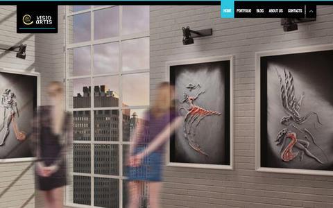 Screenshot of Home Page visioartis.com - Visio Artis   Art and photography. - captured Sept. 24, 2014