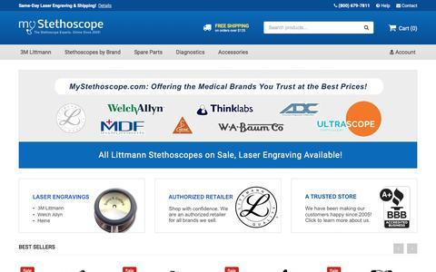 Screenshot of Home Page mystethoscope.com - Stethoscope Sale on Littmann Stethoscopes - MyStethoscope.com - captured Nov. 4, 2017