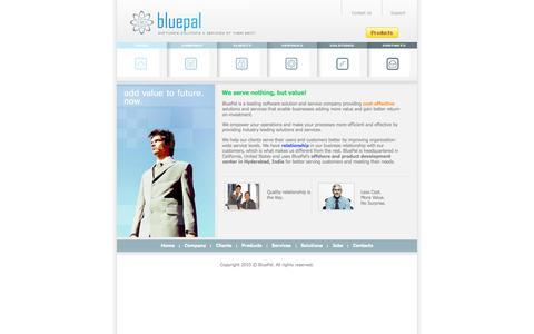 Screenshot of Home Page bluepal.com - BluePal - captured Sept. 30, 2014