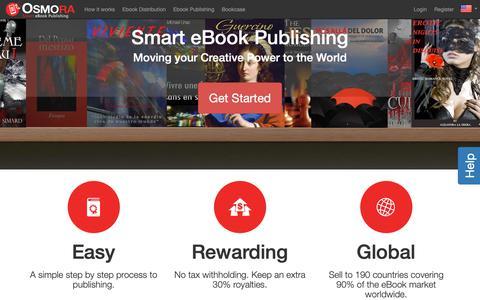 Screenshot of Home Page osmora.com - Smart eBook Publishing - Osmora Inc. - captured Oct. 26, 2018