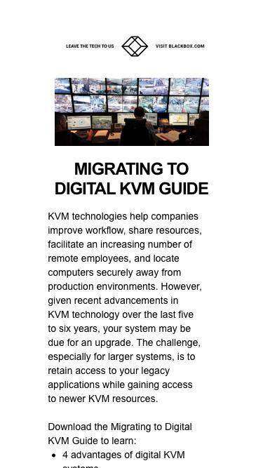 Migrating to Digital KVM Guide | Black Box