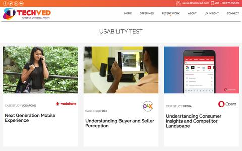 Usability test case study | Techved